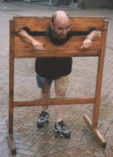 Danny D in the stocks